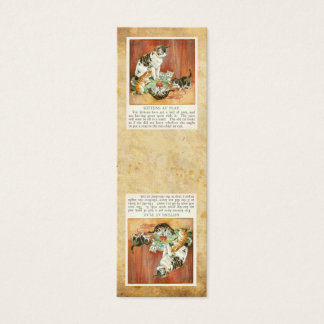 Kittens at play bookmark mini business card