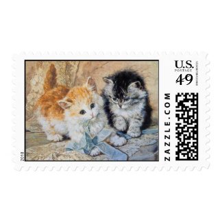 Kittens at Play Postage