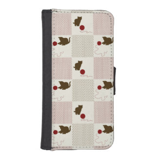 Kittens Backgrounds Wallet Phone Case For iPhone SE/5/5s