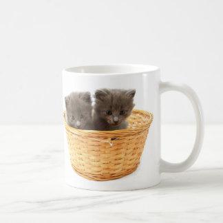 kittens basic white mug