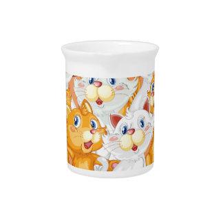 kittens beverage pitcher