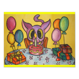 Kitten's Birthday Announcements