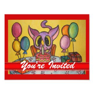 Kitten's Birthday Invite