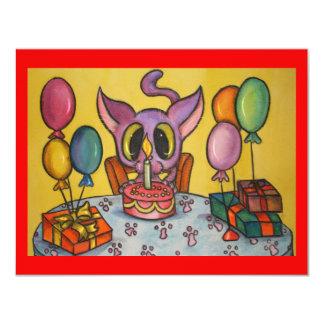 Kitten's Birthday Custom Invite