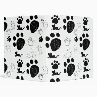 Kittens black & white 3 ring binder
