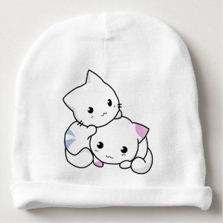Kittens brother & sister baby beanie