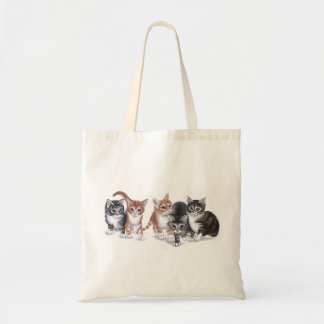 kittens budget tote bag