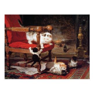 Kittens by Henriette Ronner-Knip Postcard