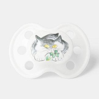 Kitten's Four Leaf Clover Baby Pacifier