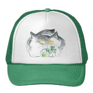 Kitten's Four Leaf Clover Trucker Hat