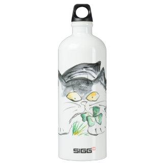 Kitten's Four Leaf Clover Water Bottle