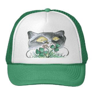 Kitten's Four Leaf Clover wit Bee Buzzin' Trucker Hat