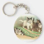 Kittens Hide and Seek Key Chain