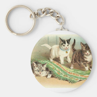 Kittens Hide and Seek Keychain