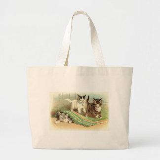 Kittens Hide and Seek Large Tote Bag