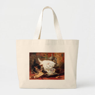 Kittens high tea party tote bags