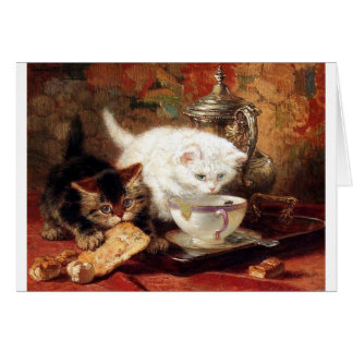 Kittens high tea party card