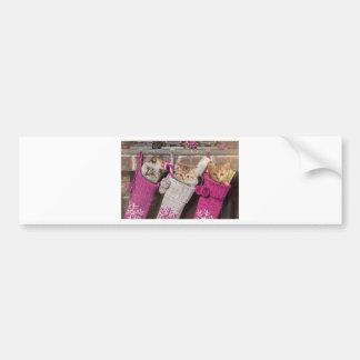 Kittens In Christmas Stockings Bumper Sticker