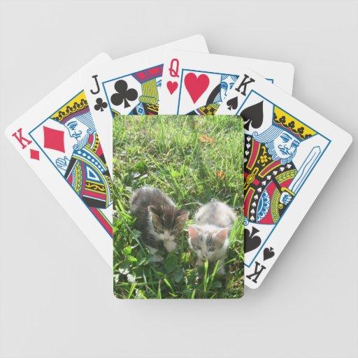 Kittens in Grass Poker Deck