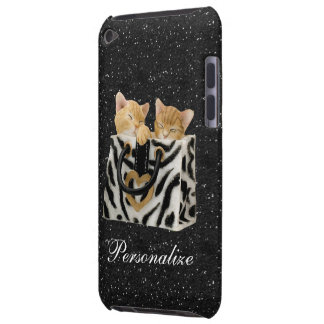 Kittens in Handbag Black Glitter iPod Touch Case