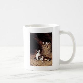 Kittens in Hay painting Coffee Mug