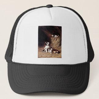 Kittens in Hay painting Trucker Hat