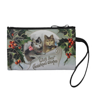 Kittens in Holly Christmas Change Purse