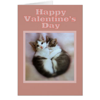 Kittens in Love Happy Valentine's Day Card