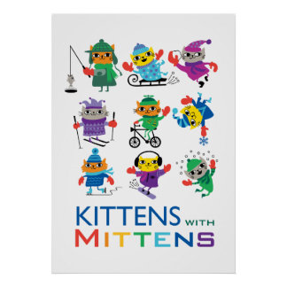 Kittens In Mittens Posters