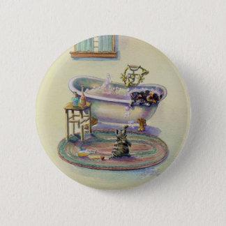KITTENS in the BATHTUB by SHARON SHARPE Pinback Button