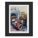 Kittens in the Cradle by Louis Wain Poster