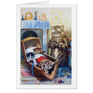 Kittens in the Cradle Cards
