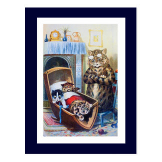 Kittens in the Cradle Postcard