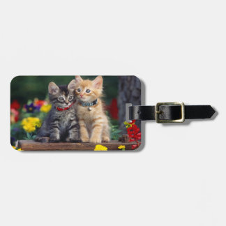Kittens In The Garden Luggage Tag