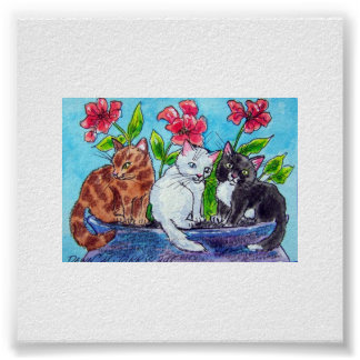 KITTENS IN THE GARDEN POSTERS