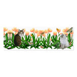 Kittens in the Tulip Garden Bookmark Business Cards