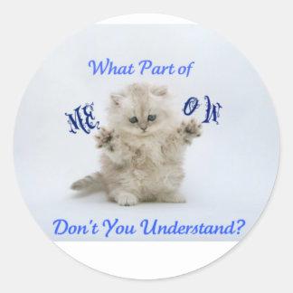 Kittens Meow Attitude Classic Round Sticker