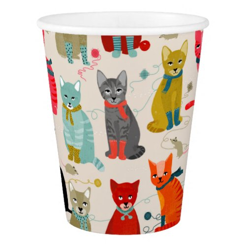 Kittens Mittens Cats Ugly Sweater / Andrea Lauren Paper Cup