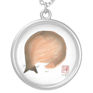 Kitten's Nap Time looks like an Enso Round Pendant Necklace