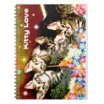 Kittens on a Bed of Flowers Spiral Note Book