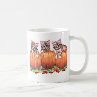 Kittens on Pumpkins for Halloween Mugs