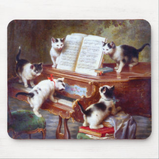 Kittens on the Keys Mouse Pad