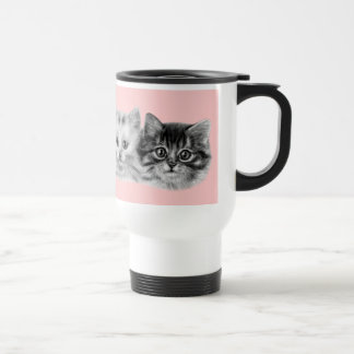 Kittens Painting Travel Mug
