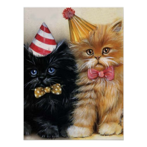 Kitten's Party Poster