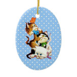 kittens playing christmas ornament