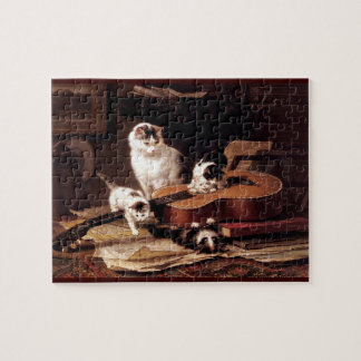 Kittens playing guitar jigsaw puzzle