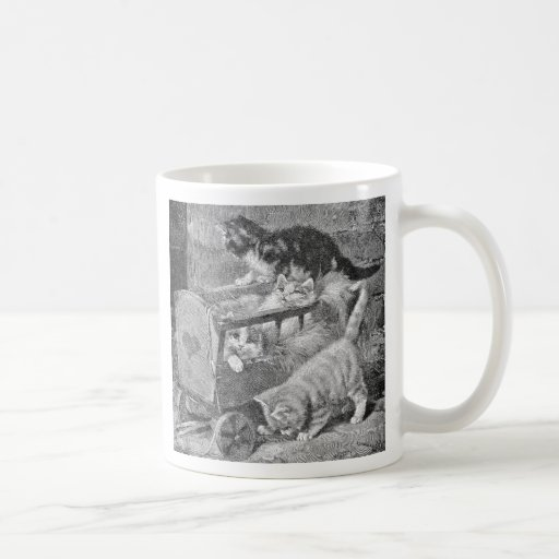 Kittens Playing in Wagon Classic White Coffee Mug