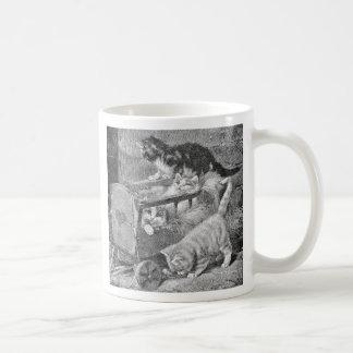 Kittens Playing in Wagon Mugs