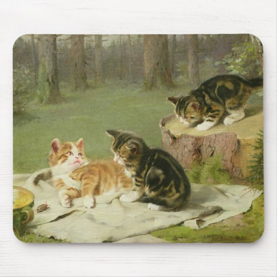 Kittens Playing Mouse Pad