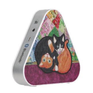 Kittens Playing on Heirloom Quilt Speaker
